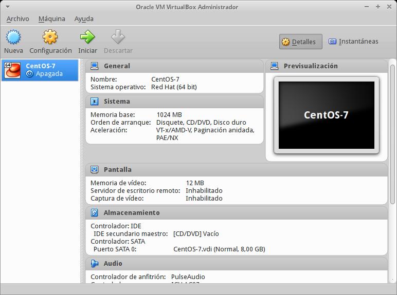 Instalar Centos 7 En Virtualbox - View - Wiki - The SaltOS